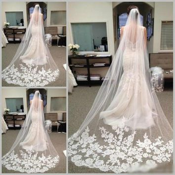 Long Chapel Length Bridal Veil