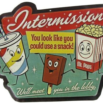 Intermission Embossed Die Cut Tin Sign | Shop Hobby Lobby