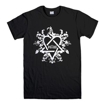 HIM H.I.M FILEGREE LOGO HEARTAGRAM 2 Men's T-Shirt