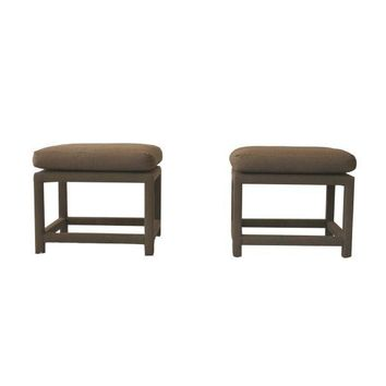 Pre-owned Milo Baughman for Thayer Coggin Stools - A Pair
