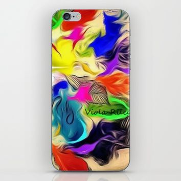 FALL LEAVES iPhone & iPod Skin by violajohnsonriley