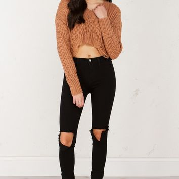 Mid Rise Denim in Black