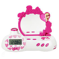 Barbie Alarm Clock with Mirror