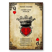 Queen of Hearts - Business Card from Zazzle.com