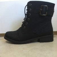 Black Short Combat Boots from Belle La Vie Boutique