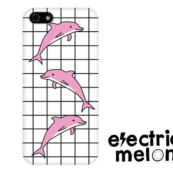 DOLPHIN iPhone 5c case, iPhone 6 case, iPhone 5 case, hipster iPhone 6 case, cute iphone 5 case, cute iphone 6 case, cute iphone 5c, kawaii