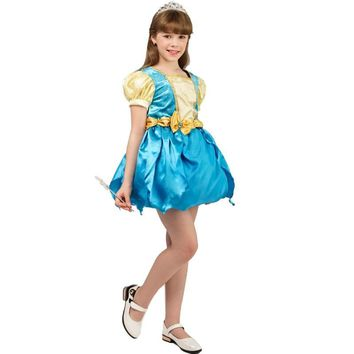 Cool new girl's transformation dress costumes fancy dress carnival party cosplay halloween party kids girl transforming  dressAT_93_12