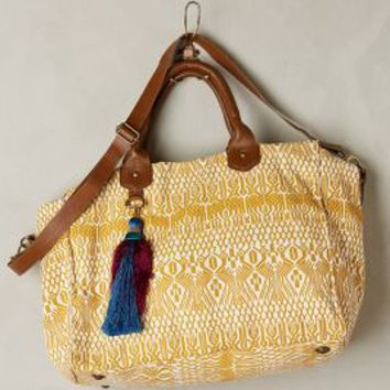 Mentari Weekender by Jasper & Jeera Dark Yellow One Size Bags