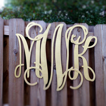 Large 24 inch Vine Wood Wooden Custom Monogram, Wall Hanging, Door Decor, Birthday Decoration, Wedding Decor, Fall Door