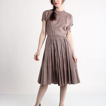 1950s Dress . Mauve Mid Century Gown