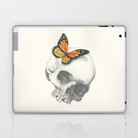 Skull and Butterfly Laptop & iPad Skin by haleyivers