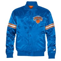 Starter New York Knicks Satin Varsity Lightweight Jacket - Men