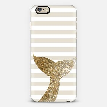 GLITTER SIRENE TAIL IN GOLD - PHONE CASE iPhone 6 case by Nika Martinez | Casetify