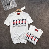 """Gucci"" Unisex Loose Casual Fashion Multicolor Letter Print Couple Short Sleeve T-shirt Top Tee"