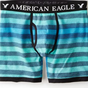 AEO Men's Ombre Striped Athletic Trunk (Turquoise)