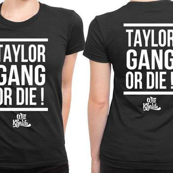 ONETOW Wiz Khalifa Taylor Gang 2 Sided Womens T Shirt