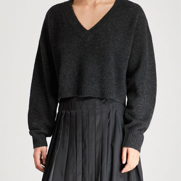 3.1 PHILLIP LIM V-neck wool-blend cropped sweater