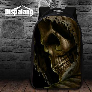 Cool Backpack school Fashion School Bags for Teenagers Cool Skull backpacks with Laptop Compartment Best Bookbags for Boys Girls Coolest Back Pack AT_52_3