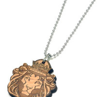 King Lion Wood Pendant