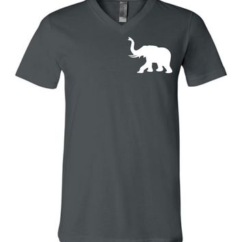 Official NCAA Venley University of Alabama Crimson Tide UA ROLL TIDE! BAMA Elephant Unisex V-Neck T-Shirt - 35AL-41