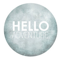 Hello Adventure Gray Grey Dorm Modern minimalist by JumpOffThePage