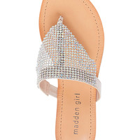 Madden Girl Sabeer Embellished Slip-On Thong Sandals | macys.com
