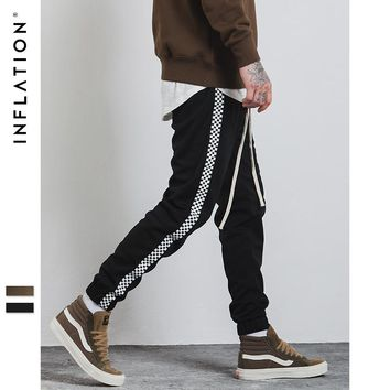Mens Sportswear Pants Stripe Side Contrast Color Letter Printing Highstreet Vintage Men Sweatpants