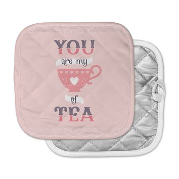 "Daisy Beatrice ""My Cup of Tea"" Pink Purple Pot Holder"