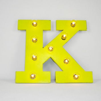 "16"" Inch Custom Lighted Wood Letters Marquee Letter Light"