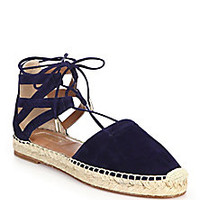 Aquazzura - Belgravia Suede Lace-Up Espadrilles - Saks Fifth Avenue Mobile