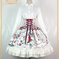 Rose Cat Lolita***Divine Maiden***Printed Lolita Skirt- - My Lolita Dress