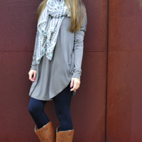 Piko Boo Tunic: Dark Charcoal Grey