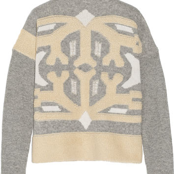 Dagmar - Intarsia wool-blend sweater