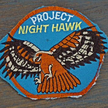 Vintage Aviation Sew On Patch, Project Nighthawk United States Air Force