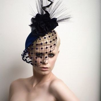 High Fashion cocktail Hat by ArturoRios on Etsy 7f3fd068452
