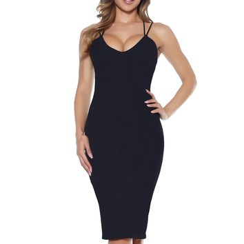 Natalia Sleek Midi Dress