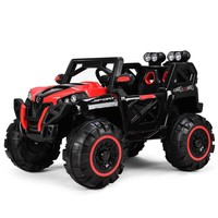 Goplus 12V Kids Ride On Racing Off Road Truck Car Remote Control w/LED Light MP3 Red