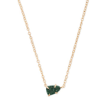 Helga Gold Pendant Necklace in Emerald Drusy | Kendra Scott
