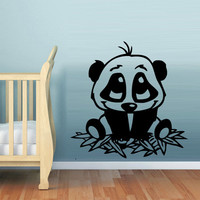 Wall  Decal Vinyl Sticker  Decor Art Bedroom Design Mural Nursery Kids Baby Bear Panda (z766)