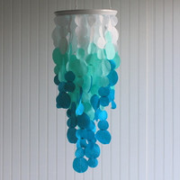 Fabric Ombre Hanging Chandelier Wedding Decoration in by Adaura