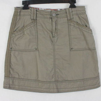 Aventura Skirt 6 S size Organic Cotton Khaki Brown Casual Easy Wear Outdoor