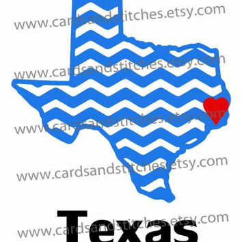 Chevron Texas (States) Digital Cutting File (SVG, DXF, JPG)