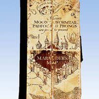 Harry Potter Inspired Marauders Map Wallet Style Case iPhone 4 4s  5 5c &6 6plus
