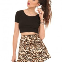 Leopard Skater Skirt - Bottoms - Clothes | GYPSY WARRIOR