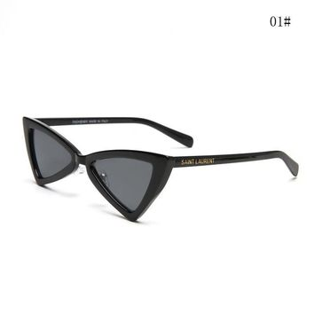 """Yves Saint Laurent YSL"" Fashion All-match Personality Triangle Sunglasses Glasses Collocation Accessories"