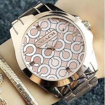 COACH 2018 men and women new versatile waterproof quartz watch F-H-JH 5