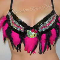Hello Kitty themed rave costume, adult womens outfit