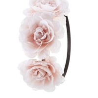 Pink Combo Oversized Rose Flower Crown by Charlotte Russe