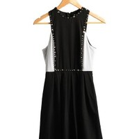 Black Stud Muffin Studded Sleeveless Party Dress | $17.50 | Cheap Trendy Club and Party Dresses Chic