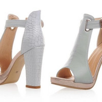 ankle strap square high heel sandals open peep toe  sexy  lady heeled footwear heels shoes size 34-39 P18528